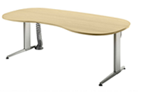 Schreibtisch stufenlos höhenverstellbar
