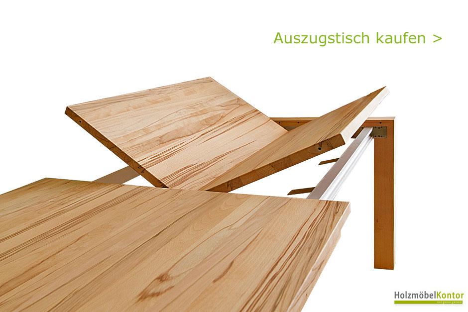 Holzm belkontor vollholz m bel online shop for Auszugstisch holz