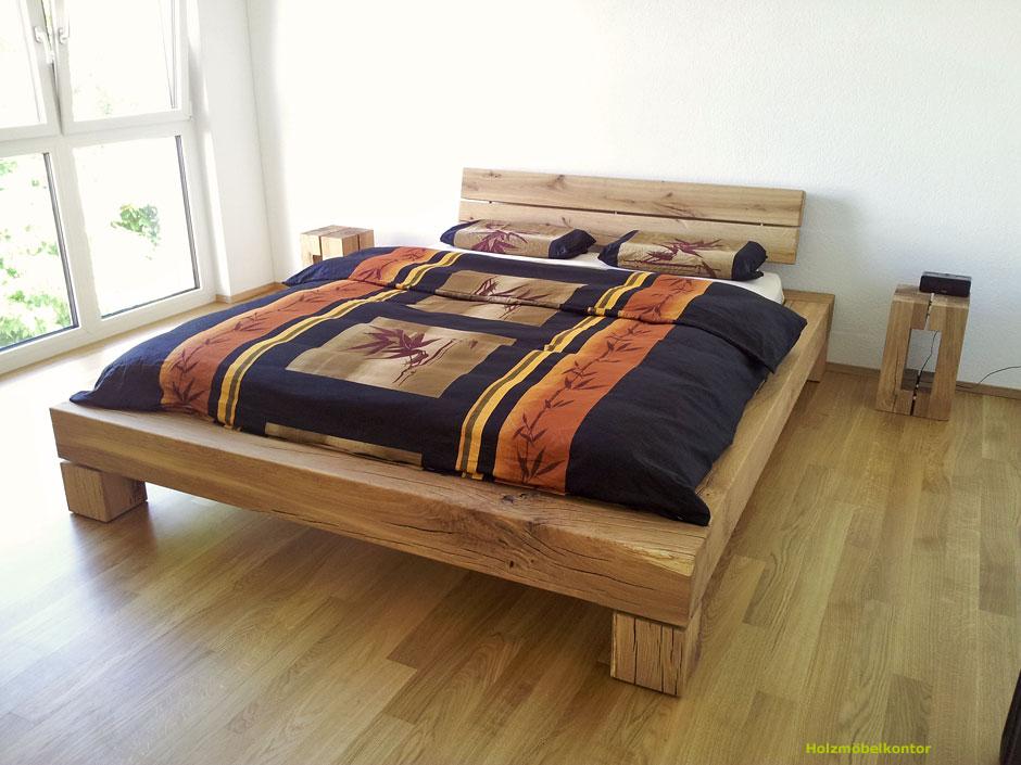 Balkenbett eiche  Perfektes Wetter - Perfektes Balkenbett - Holzmöbelkontor
